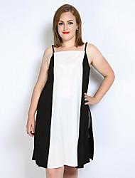 cheap -Really Love Women's Club Plus Size Tank Top - Color Block Patchwork Split Strap
