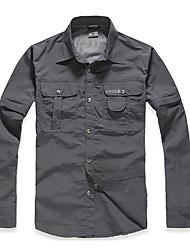 abordables -Hombre Camisa para senderismo Al aire libre Secado rápido Resistente a los UV Transpirable Ropa Interior/Prenda Interior Deportes de Nieve
