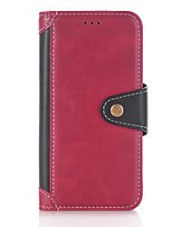 economico -Custodia Per Samsung Galaxy J5 (2016) A portafoglio Porta-carte di credito Con supporto Con chiusura magnetica Integrale Tinta unica