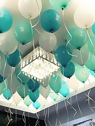 cheap -The 10-Inch 2.2-Gram Thick Sublight Tiffany Blue Latex Balloon/Wedding Room Decorated With Wedding Balloons