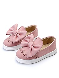 cheap -Girls' Shoes Leatherette Summer / Fall Light Soles Flats Walking Shoes Bowknot for Gray / Red / Pink