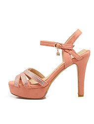 Da donna Sandali Club Shoes Finta pelle Estate Casual Con diamantini A stiletto Nero Giallo Rosa 7,5 - 9,5 cm