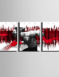 E-HOME Stretched Canvas Art  The Intrepid Iron Man Decoration Painting Set Of 3