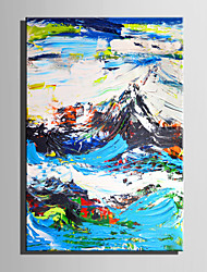 cheap -Mini Size E-HOME Oil painting Modern Abstract Mountain View Pure Hand Draw Frameless Decorative Painting