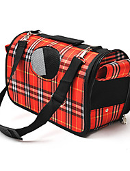 cheap -Cat Dog Carrier & Travel Backpack Shoulder Bag Pet Carrier Portable Breathable Plaid/Check Purple Red