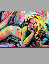 Peinture à l'huile peinte à la main, art de mur à la chambre avec cadre étiré, prêt à accrocher