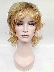 Syntetisk hår Parykker Bølget Natural Hairline Mørke hårrødder Ombre-hår Lågløs Naturlig paryk Medium Blond