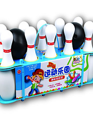 abordables -Pelotas Juegos de Deporte y Exterior Bolos de juguete Bolos Juguetes Portátil Cilíndrico Plásticos Piezas Niños Niñas Regalo