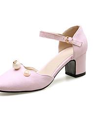 Women's Heels Mary Jane Basic Pump Comfort Leatherette Spring/Fall Summer Wedding Casual Office & Career DressMary Jane Basic Pump