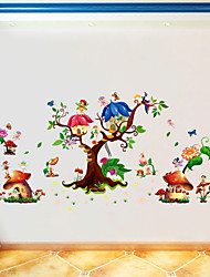 cheap -Butterfly Elf Cartoon Sticker Kids' Room Living Room Bedroom Background Decorative Sticker Pvc Wall Sticker