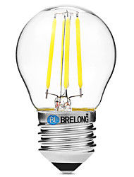 cheap -BRELONG® 1pc 4W 300 lm E27 LED Filament Bulbs G45 4 leds COB Dimmable Warm White White AC 200-240V