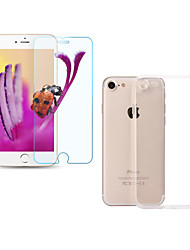 ASLING Screen Protector For Apple iPhone 7 Tempered Glass Front Film HD 9H Hardness 2.5D Curved edge Ultra Thin 0.26mm with Transparent TPU Case