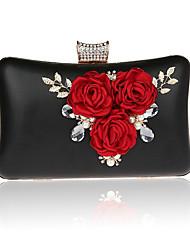 Femme Sacs PVC Polyester Sac de soirée Fleur pour Mariage Soirée / Fête Formel Toutes les Saisons Or Noir Argent Rouge Rouge de Rose