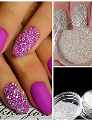3g Nail Art Decoration Glitter Crystal Glass Caviar Beads Tiny 3D Micro Pixie Mermaid Nails Art Hot Nail Decorations