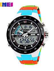 cheap -Men's Sport Watch / Skeleton Watch / Military Watch Chinese Alarm / Calendar / date / day / Chronograph Silicone Band Charm / Luxury / Casual Multi-Colored / Water Resistant / Water Proof / LCD
