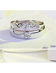 Bague Bague de fiançailles Zircon cubique Mode Simple Style Elegant Agate Zircon Forme Ronde Ailes / Plume Bijoux PourMariage Soirée