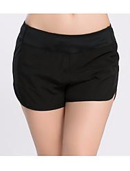 Недорогие -Черный Виды спорта Японский хлопок Шорты Нижняя часть Йога Спортивная одежда
