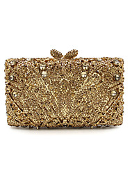 cheap -Women's Bags Metal Rhinestone Chain Metallic for Gold Light Gold