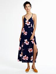 cheap -Women's Casual Bodycon Dress - Floral