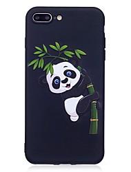 billige -Til iphone 7 plus 6 plus 6s se 5s 5 case cover panda mønster relief tilbage cover soft tpu