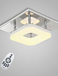 cheap -Flush Mount Ambient Light - LED, 90-240V, Warm White / White / Dimmable With Remote Control, LED Light Source Included / 20-30㎡