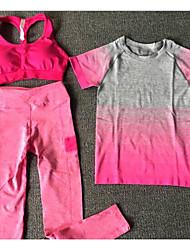 Mulheres Camiseta de Trilha Fitness, Corrida e Yoga Secagem Rápida Conjuntos de Roupas para Correr Exercício e Atividade Física Todas as