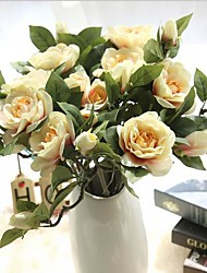 17inch 10 Branch Silk Gardenia Tabletop Flower Artificial Flowers