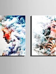 cheap -E-HOME Stretched Canvas Art  Women In The Clouds Decoration Painting One Pcs