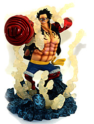 cheap Toys & Hobbies-Anime Action Figures Inspired by One Piece Monkey D. Luffy PVC(PolyVinyl Chloride) 19 cm CM Model Toys Doll Toy