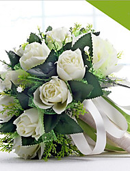 cheap -The Bride's Romantic White Rose With Flowers Wedding Accessories