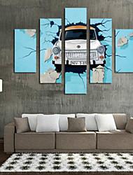baratos -Estampados de Arte Vida Imóvel Modern,5 Painéis Horizontal Estampado Decoração de Parede For Decoração para casa