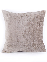 cheap -Chenille Pillow Case- Light Grey