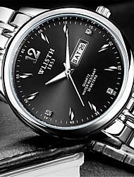cheap -Men's Fashion Watch Quartz Casual Watch Alloy Band Casual Silver
