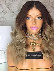 cheap -Ombre Blonde Brazilian Virgin Hair Glueless Lace Wigs Body Wave for Woman 130% Density Lace Front Human Hair Wigs Virgin Remy Hair Wig with Baby Hair