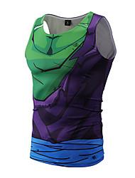 Недорогие -Для мужчин Одежда для спорта и отдыха Спортивная одежда Лето Безрукавка Круглый вырез,Панк & Готика 3D-печати Без рукавов,Полиэстер,