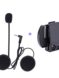 cheap -Vnetphone 3.5mm Helmet Microphone V6 intercom V4 Interphone Headset Accessories Stereo Clip Buckle for V6 Intercom V4 Helmet Interphone Accessories