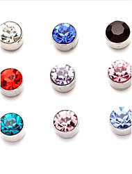 cheap -Men's Women's Stud Earrings Clip Earrings Topaz Synthetic Sapphire Synthetic Emerald Synthetic Ruby Garnet Circular Love Circle