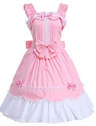 cheap -Sweet Lolita Dress Princess Women's JSK / Jumper Skirt Cosplay Pink Sleeveless