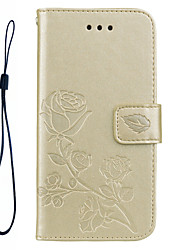 cheap -FOR Samsung Galaxy S8 Plus S8 Phone Case Roses 3D Embossed Pattern Hand Rope Style PU Leather Material Phone Case