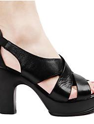 Damen Schuhe Leder Nappaleder Frühling High Heels Für Schwarz Beige Farbbildschirm