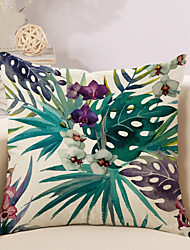cheap -1 pcs Cotton / Linen Pillow Cover / Pillow Case, Botanical / Novelty / Printing Vintage / Casual / Retro