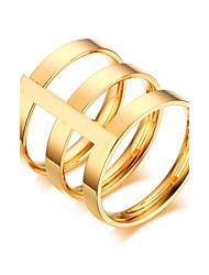 preiswerte -Damen Roségold Gold Bandring - Kreisförmig Retro Punk Für Hochzeit Jahrestag Party / Abend Alltag