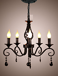 Traditional Crystal Chandelier Interior Lighting 5 Heads Candles Simple Chandelier