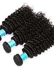 cheap -Vinsteen Kinky Curly Hair Weave 3 Bundles 300g Unprocessed Human Hair Extensions Natural Human Hair Weave Peruvian Weft Hair Extensions