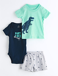 Baby Kids' Casual/Daily Geometic Clothing Set,Cartoon Summer