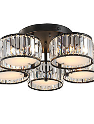 cheap -5 Lights Crystal Ceiling light Vintage Painting Feature for Living Room Bedroom Kids Room E27 E26 lampholder