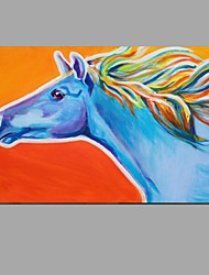 cheap -Hand Painted Modern Abstract Horse Animal Canvas Oil Painting Wall Art With Stretched Frame Ready To Hang