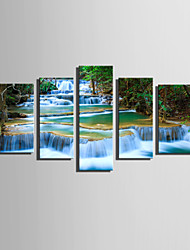 Недорогие -Холст для печати5 панелей Холст Вертикальная С картинкой Декор стены For Украшение дома