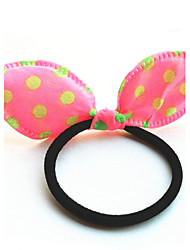 Hair Ties Women's Rabbit Ears Double Color Cloth Korea Headdress Flower Girl Hair Jewelry Gift