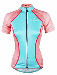 ILPALADINO Maglia da ciclismo Per donna Manica corta Bicicletta Maglietta/Maglia Top Asciugatura rapida Resistente ai raggi UV Materiali